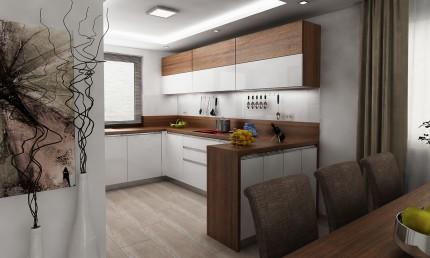 4713d8e827cd Návrh kuchyne s kontrastom bielej lesklej a orecha   Diaková