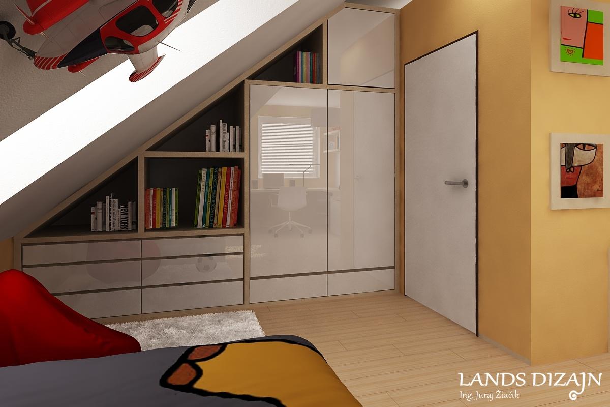 81c0d09319cc Detská izba v podkroví vo svetlých odtieňoch   Tomčany
